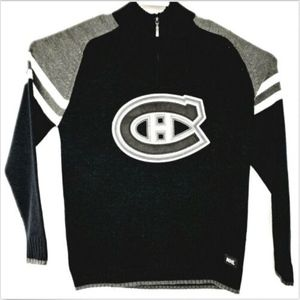 Montreal Canadians Mens Sweater Black Medium